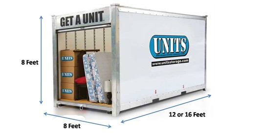 UNITS Moving Container Space Estimator